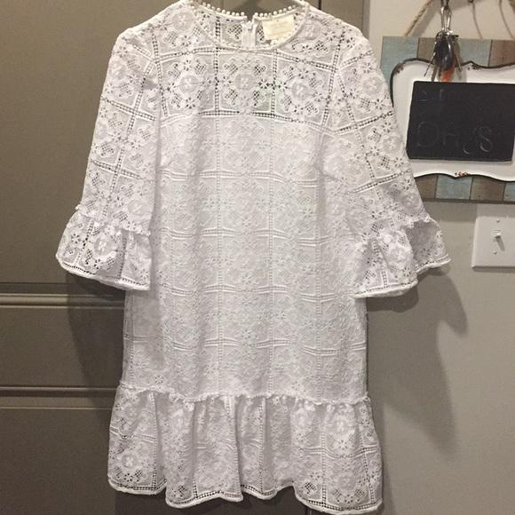 32e8411a89a6 kate spade Dresses | Lace Flounce Shift Dress | Poshmark